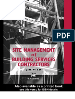 CIBSE Site Management of Building Services Contractors