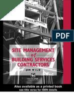 CIBSE Site Management of Building Services Contractors