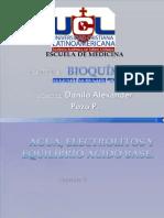 Agua, Electrolitos y Equilibrio Acido Base