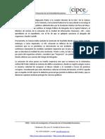 Comunicado CIPCE - caso Schoklender