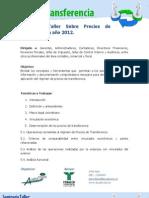 Seminario Taller Sobre Precios de Transferencia (2012)