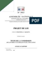 Assemblée nationale française-Projet de loi relatif à la rémunération pour copie privée-Rapport de la commission culture-16 novembre 2011