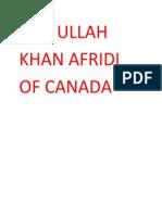 Saif Ullah Khan Afridi of Canada