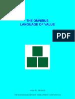 The Omnibus Language Of Value