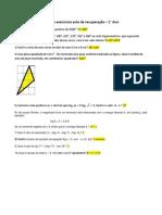 10 ExercíciosMatemática.Geometria 1ºAno EnsinoMédio