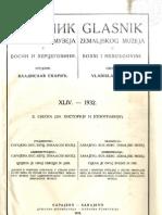 Glasnik Zemaljskog Muzeja 1932./god.44 sv.2