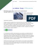 25 Dicas para uma casa mais sustentável - Energia - Naturlink