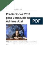 Predicciones Adriana Azzi Para El 2011