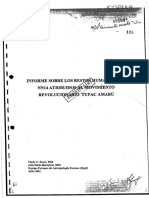Informe sobre los restos humanos atribuidos al Movimiento Revolucionario Tupac Amaru realizado por José Pablo Baraybar en Julio del año 2001