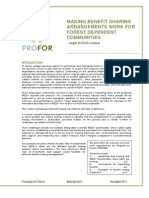 Making Benefit Sharing Arrangements Work for Forest Dependent Communities