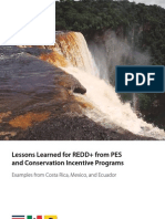 Lessons Learned for REDD+ from PES and Conservation Incentive Programs