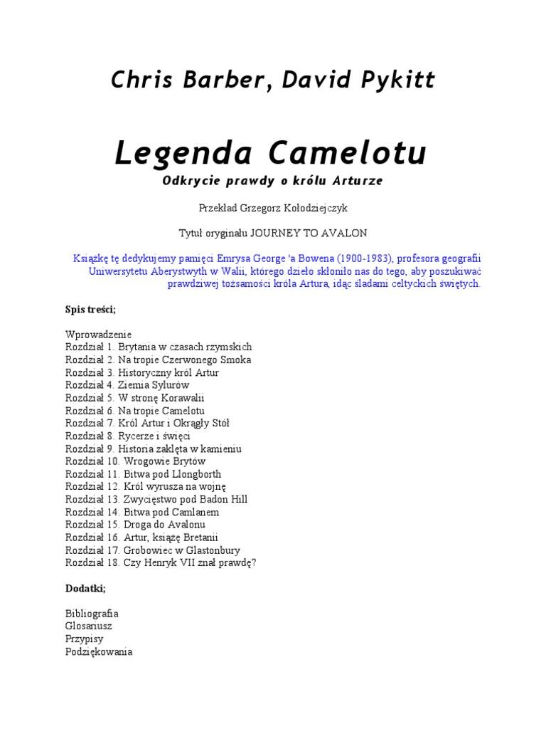 Chrisbarber Davidpykitt Legenda Camelotu