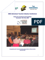 Adventure Tourism Industry Conference 2003