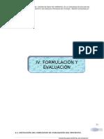 IV. FORMULACIÓN Y EVALUACIÓN