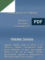 Intoxicación con Metales