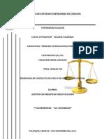 Derecho Internacional Privado Problemas de Conflicto de Leyes y de cia Judicial
