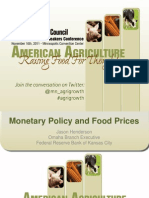 Monetary Policy and Food Policy