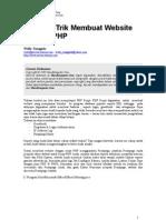 tips dan trik membuat web dengan php
