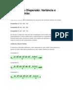 Medidas de Dispersão - Variancia e D.Padrao