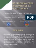 DISEÑO DE MÁQUINA PARA EL DESPULPADO DEL ARAZÁ EXPOSICION