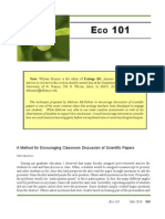 A Method for Encouraging Classroom Discussion of Scientific Papers