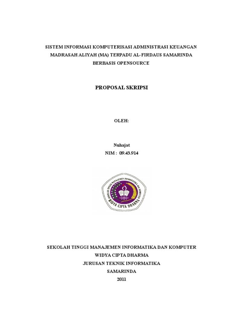 Proposal Skripsi Teknik Informatika By Nuhajat Gmail Com