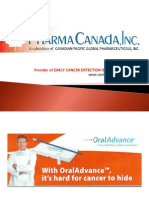 PharmaCanada - Oral Cancer & Early Cancer Detection