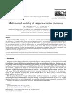 Mathematical Modeling of Magneto-sensitive Elastomers