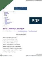 XSCF Cheatsheet