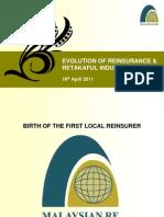 Evolution of Re Insurance & Retakaful Industry - 18 April 2011