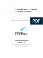 TELEVISION NEWSROOM DIVERSITY AND CIVIC ENGAGEMENT