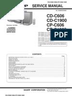 Sharp CD C606