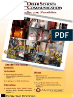 The Delhi School of Communication (Newsletter - Nov & Dec 2011)