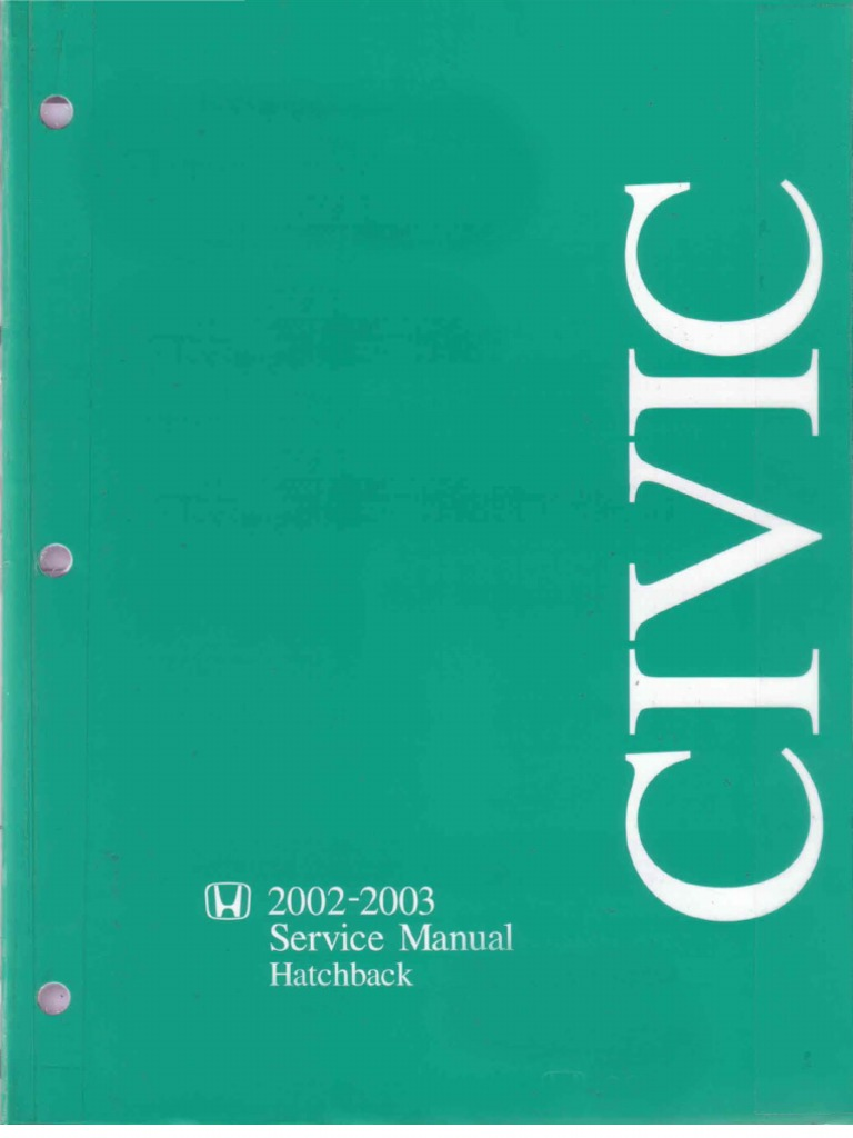 Honda_Civic (02-03) Service Manual OCRed | Transmission (Mechanics) |  Suspension (Vehicle)