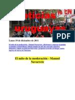 Noticias Uruguayas Lunes 19 de Diciembre de 2011