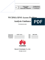 WCDMA RNO Access Problem Analysis Guidance-20040716-A-2.0