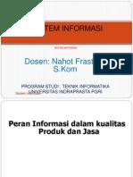 SISTEM INFORMASI-Kualitas Dlm Jasa Informasi