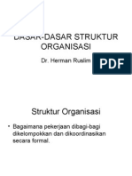 Dasar-dasar Struktur Organisasi