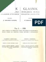 Glasnik Zemaljskog Muzeja 1938./god.50