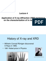 Application of X-Ray Diffraction (XRD) Technique in Nano Composite Materials