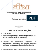 Aula 3 - Marketing Mix - Promocao