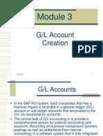 CFGModule 3 - GL Account Creation