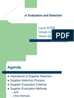 Supplier Evaluation Selection