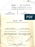 Glasnik Zemaljskog Muzeja 1939./god.51 sv.1