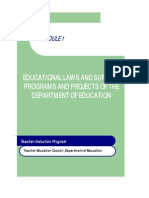 Module 1 Educational Laws and Surveys Programs and Projects of the DepEd