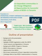 International Student Conference on Climate Change- Johanesburg 2011