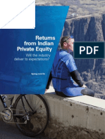 Return From Indian Private Equity KPMG Report