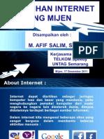 Materi Pelatihan Internet Untuk Guru dan Siswa SMU Kec. Mijen, Semarang