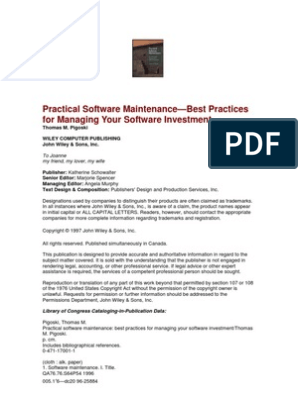 Pigoski - Practical Software Maintenance-Best Practices for