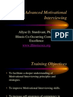 Advanced Motivational Interviewing Handouts